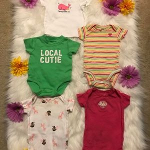 0-3 month baby girl bodysuits